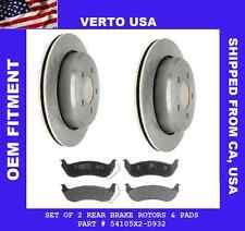 Rear Kit Rotors & Pad , Fit Ford Crown Victoria ,Merc Grand Marquis 2003-2011