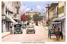 Nassau Bahamas George Street Scene Historic Bldgs Antique Postcard K54621
