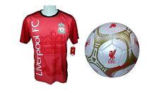 Liverpool F.C. Official Soccer Jersey & Size 5 Ball -16 Medium