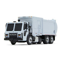 NEW 2019 Mack McNeilus WHITE ZR Side Loader GARBAGE TRUCK.  FIRST GEAR 1/87