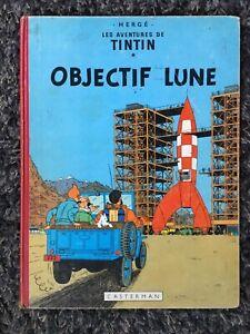 TINTIN OBJECTIF LUNE 🌔  - par Hergé  album ancien B27 de 1960