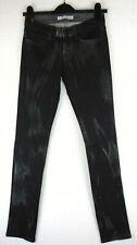 J Brand Super Skinny Stretch Black Waxed Denim Ladies Jeans NEW 25W 34W