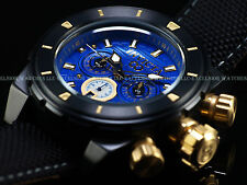 New Invicta 50mm Crazy Eight Deep Dish Corduba Chronograph Black Blue SS Watch