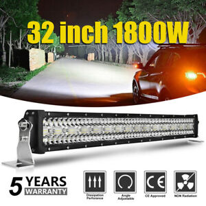 "1800W 32"" Barre à LED 4x4 phare de travail Light Bar 10-30V Rampe offroad vs 42"""