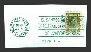 "RRRR ""Confraternidad"" Cancel Uruguay 1930 1st Soccer Football World Cup postmark"