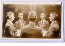 Trick Real Photo Postcard RPPC - Five Views of Man