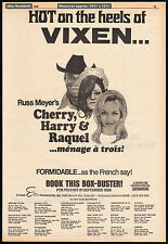 Russ Meyer's_CHERRY, HARRY & RAQUEL__Original 1969 Trade AD promo / poster__1970