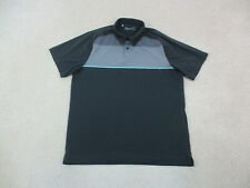 New listing Under Armour Polo Shirt Adult Large Black Gray Logo Lightweight Rugby Mens A75