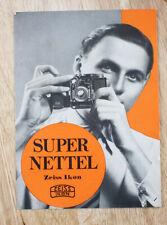 Zeiss Super Nettel Sales Brochure In German/cks/194449