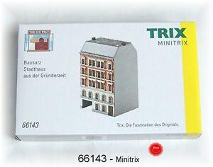 TRIX 66143 Minitrix Spur N Bausatz Stadthaus aus der Gründerzeit #NEU in OVP#