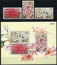 Laos Lao 2001 Frangipani Blüten Blumen Flowers 1791-93 Block 186 Postfrisch MNH