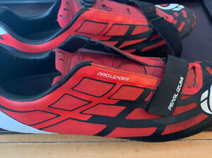 pearl izumi Pro Leader Cycling Shoes Size 48 Red White Black.