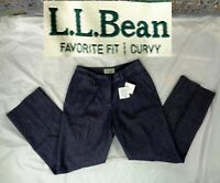 NEW NWT LL Bean Womens Sz 8 Reg Curvy Fit Cotton/Lycra Jean Denim Style Pants