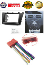 Harness + Fascia facia Mazda 3 2009-2013 Double Two 2 DIN Dash Kit