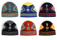 Native American Indian Navajo Print Cuffed Knit Beanie Hat