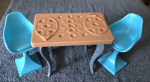 2015 Barbie Dream House CJR47 Replacement Parts- Kitchen Table and Chairs