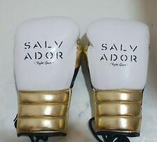 14oz White/Black/Gold Salvador Sparring Gloves