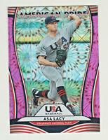 2020 Donruss Rapture American Pride Baseball #4 Asa Lacy//Clayton Kershaw Team USA Official MLBPA Trading Card From Panini America