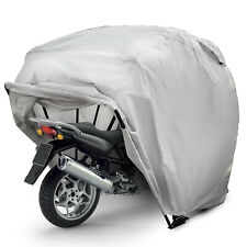 Bike Motorcycle Tent Garage Shelter Cover Outdoor UV Protector Storage Silver