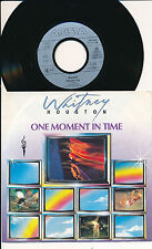 """WHITNEY HOUSTON 45 TOURS 7"""" GERMANY ONE MOMENT IN TIME"""