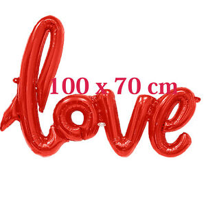 Valentines Foil Balloon LOVE 100 CM Anniversary Wedding Party Decorations Ballon
