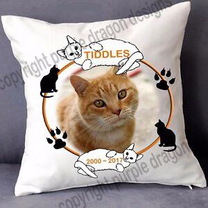 Pet Cat memorial cushion