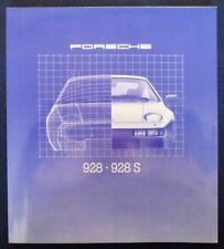 PORSCHE - 928 / 928S - CAR SALES BROCHURE - 1980 - # 1012.20
