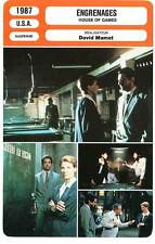 FICHE CINEMA : ENGRENAGES - Crouse,Mantegna,Mamet 1987 House of Games