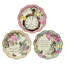 12 X Vintage Style Truly Alice in Wonderland Paper Plates Mad Hatters Tea Party