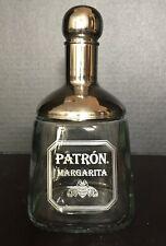 Patron Margarita 18 oz. Heavy Glass Shaker with Stainless Strainer Cap Brand New