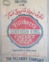 Feed Sack Pillsbury's Southern King Patent Flour Great Graphics Vintage Bag #9