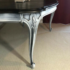 French Provincial Dining Table Hand Carved Solid Wood