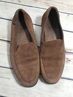 PIE LSA Womens Size 7 Brown Leather Loafer Shoe Slip On Casual Comfort Flat