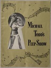 Michael Todd's Peep Show 1950 Broadway Souvenir Program Lilly Christine Original