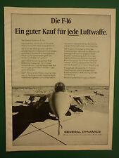 6/1975 PUB GENERAL DYNAMICS F-16 FIGHTING FALCON LUFTWAFFE ORIGINAL GERMAN AD