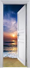 Adhesivo puerta de tronco trampantojo Acostado del sol 90x200 cm ref 326