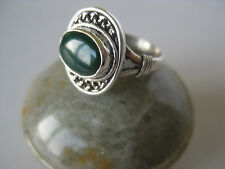 Onyx Silver Ring Size 6~ Green gemstone, 92.5 sterling
