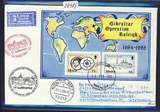 58981) LH FF Edimburgo GB-Francoforte 28.3.99, Lettera Gibilterra Raleigh