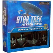 STAR TREK ATTACK WING: ROMULAN FACTION PACK - 4 Plastic Ship + Cards