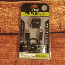 iFrogz Triple Play Multi-Tip USB 2.0 Charge/Sync Cable w/30-Pin Dock Connector
