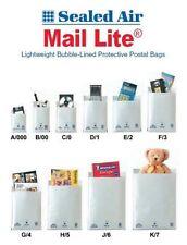 "Mail LITE/Lites Borse imbottite buste ""tutte le dimensioni del Corriere +24H - Bianco & GOLD"
