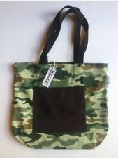 West Elm BAGGU Canvas Shopper Tote With Pocket Camo NWT