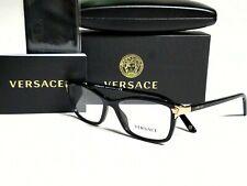 New Authentic VERSACE VE3156 GB1 Black/Demo Lens 53/15/135 Eyeglasses