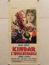 KINDAR L'INVULNERABILE avventura regia Osvaldo Civirani locandina orig. 1965