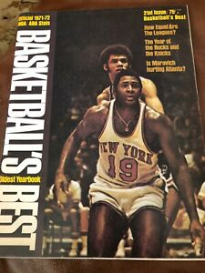 Basketball's Best Oldest Yearbook Official 1971-72 NBA ABA Stats All ABA Teams!