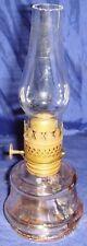 SE722 Antique Vtg Little Dutchess Coal Oil Clear Glass Lamp
