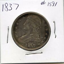 1837 50C Capped Bust Silver Half Dollar. Circulated. Lot #1583