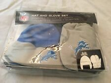 Detroit Lions NEW Toddler / Infant Hat & Mitten Box Set . NFL Football Gift Baby