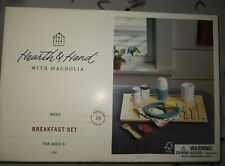 Hearth & Hand With Magnolia Kids Play Wood 18 Piece Breakfast Set Brand New