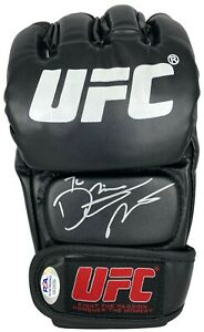 Dustin Poirier autographed signed inscribed glove UFC The Diamond PSA COA